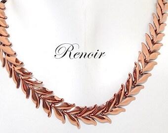 Vintage Renoir Copper Leaf Necklace 1950s - Renoir Jewelry - Copper Necklace - Copper Jewelry - 1950s Jewelry - Vintage Jewelry