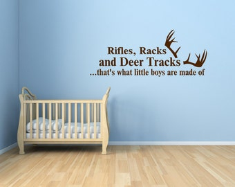 Baby Wall Decal - What Little Boys Are Made Of Vinyl Decal 0021