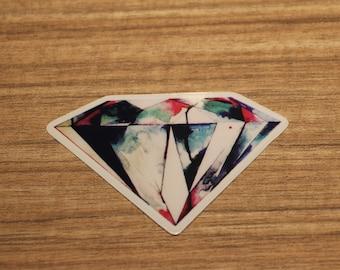 Diamond Transparent Sticker, 100% Waterproof Vinyl Sticker, Pop Culture Transparent Sticker