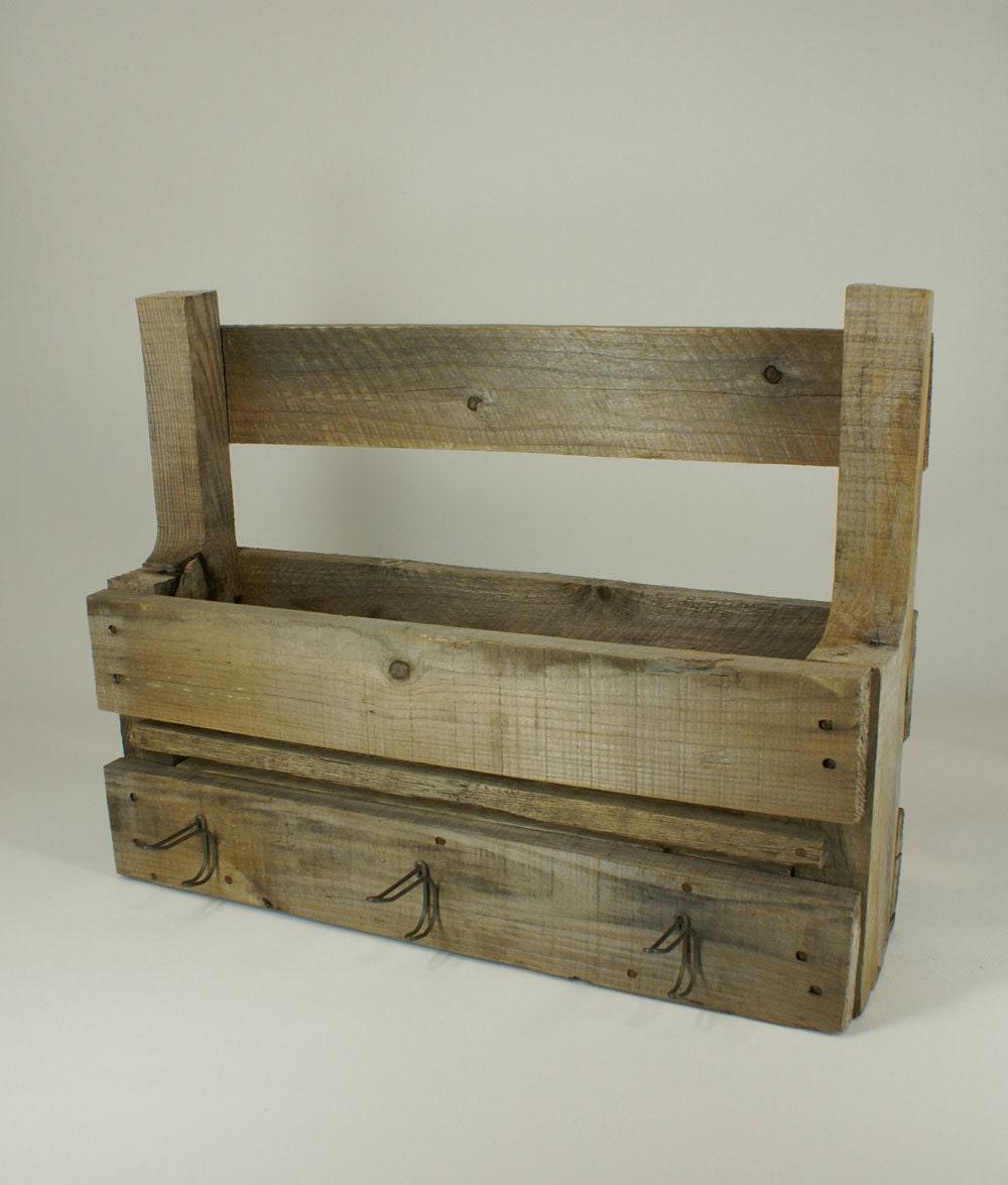 Porte journaux de bois rustique storage magazine par for Porte journaux en bois