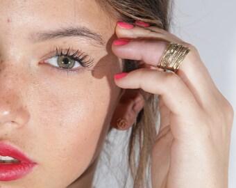 Set of 10 Gold rings, Stacking ring, stacking gold rings, thin ring, hammered ring, tiny ring, thin rings- R2210