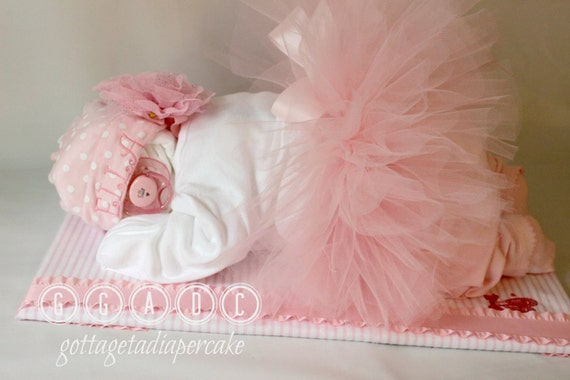 ballerina tutu diapercake sleeping diaper by