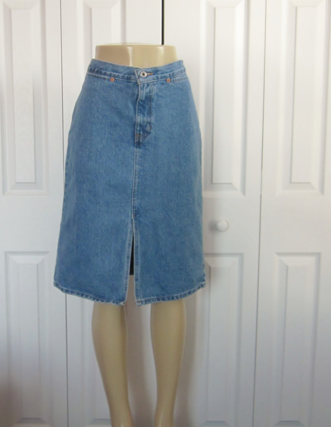 vintage denim jean skirt gap denim skirt womens by