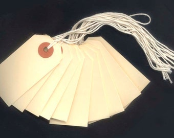 Shipping Tags with String for Arts and Crafts, Altered Books, Gift Tags, Banners