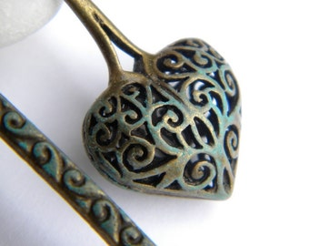 Bookmark - Such a heart patinated