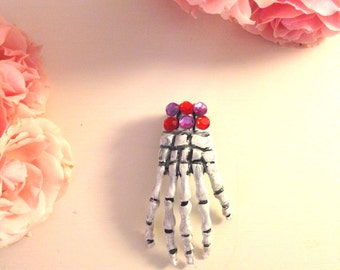 Skeleton Hand Brooch