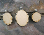RESERVED for Liz - Set of 9 Wood Blanks, 3 each: 25mm Circles, 22x30mm and 30x40mm Ovals