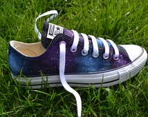 Galaxy Converse - Hand Painted