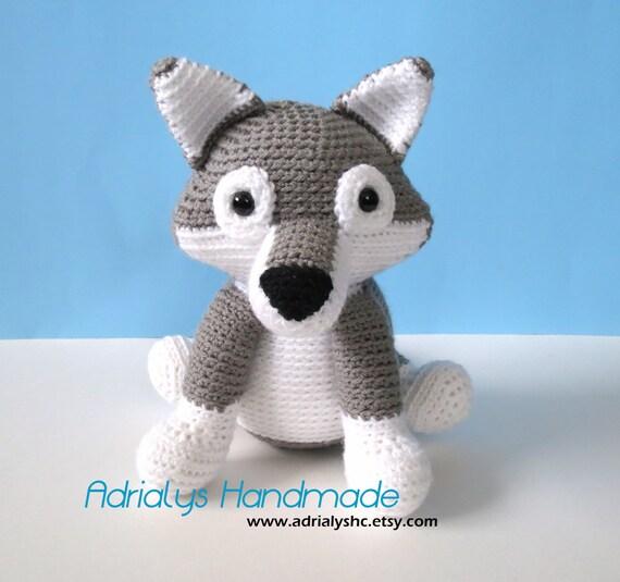 Amigurumi Forest Animals : Items similar to Crochet Grey Wolf- Stuffed Wolf- Wolf ...