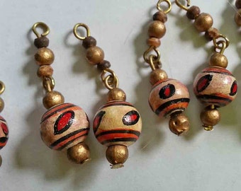 12 Strings of Wooden Beads FREE SHIPPING