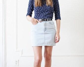 Vintage 90s Acid Washed Denim Skirt
