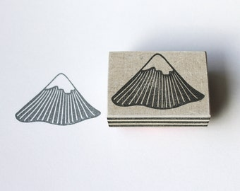 Hand carved mountain stamp