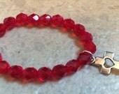 Luca Knows Heart Red Beaded Bracelet