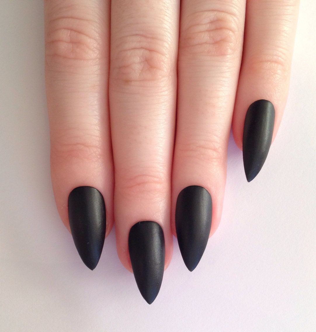 Matte Black Stiletto Nails Nail Designs Nail By