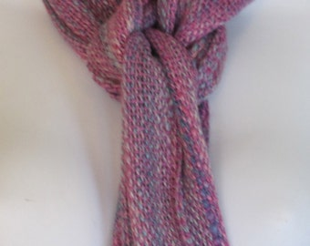 Cotton Candy - Hand woven soy silk and silk blend scarf