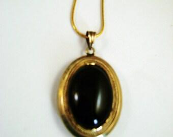 SALE Was 175.00 Now 160.00 Victorian Black Enamel Mourning Locket