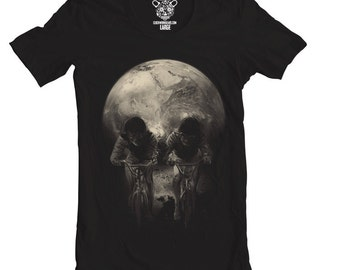 Skull Ride Men's Tee, Surreal Bike T-Shirt