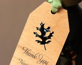 Wedding Wooden Gift Tags - Unique Fall Wedding Favors - Favor Thank You Tags (Set of 25)