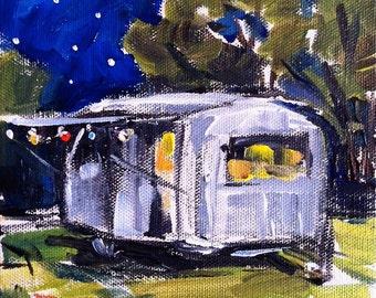 Vintage Airstream - squad art print - Bambi - road trip - Airstream art - Airstream print