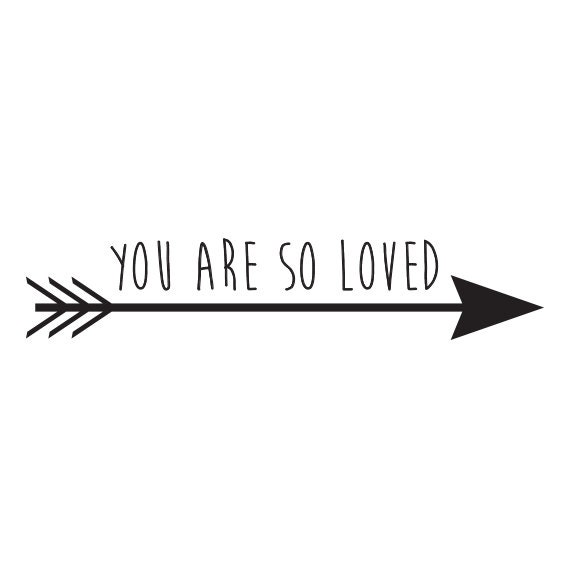 You Are So Loved Vinyl Wall Decal Sticker Nursery Decor