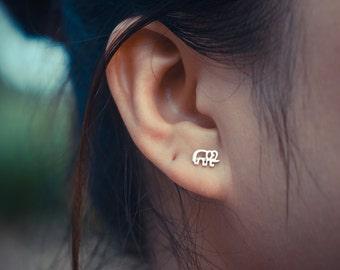 Elephant Sterling Silver Earring Studs