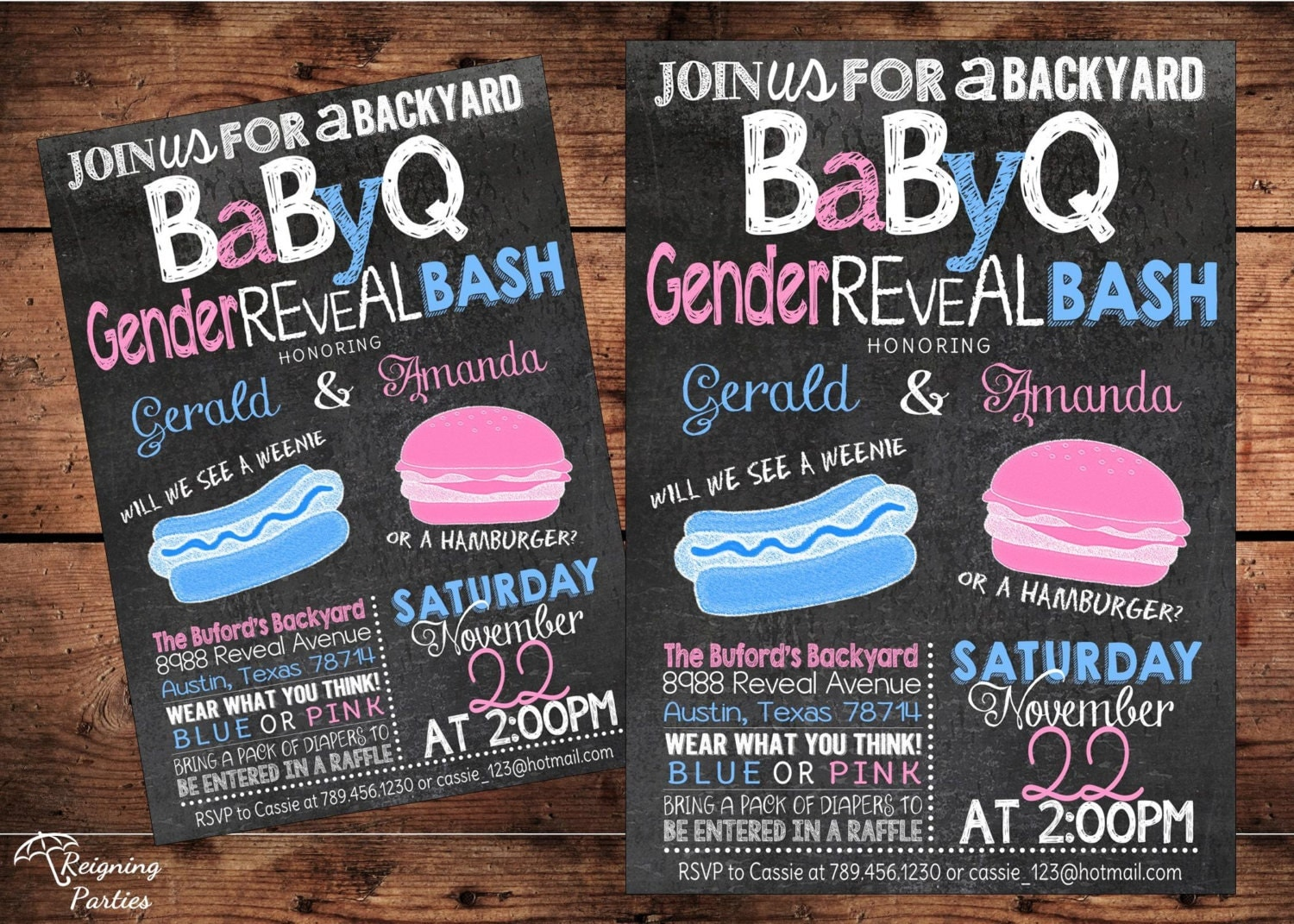Reveal Party Invitations is amazing invitation layout