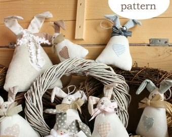 Pattern : rabbit Tippi -rabbit softie pattern-softie pdf pattern