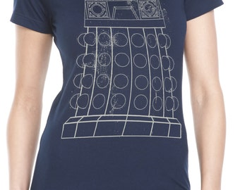Womens' Exterminate Dr Who Dalek Shirt