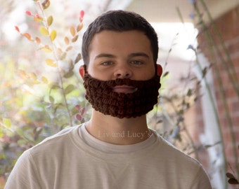 Adult Size Crochet Beard --6+ COLOR OPTIONS AVAILABLE!!--