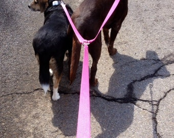 5' Double Leash No Tangle - Your choice of pattern Dog Leash
