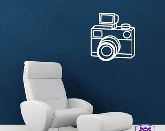 Camera with Flash Wall Decal Decor