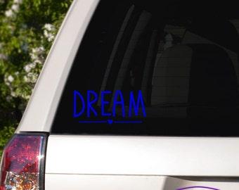 Cute Dream Typography Car Window Decal