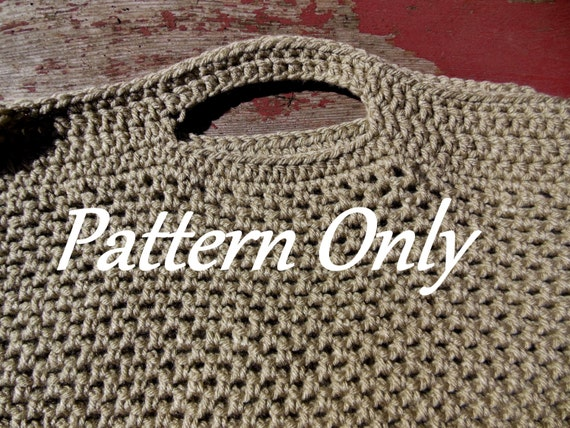 ... basic crochet pattern for the pictured tote/reusable grocery bag