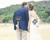 """Chalkboard photo prop signs """"Thank you"""""""