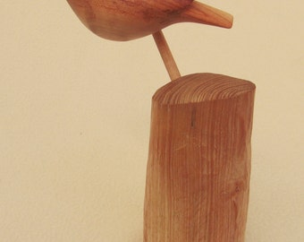 Wood carved bird