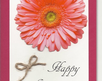 Handmade Greeting Card - Anniversary - Embellished
