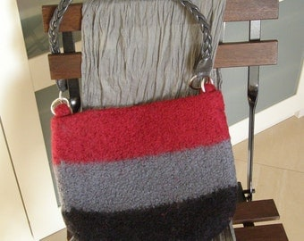 felted wool purse in three colors