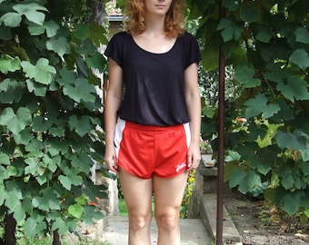 80's vintage red retro shorts