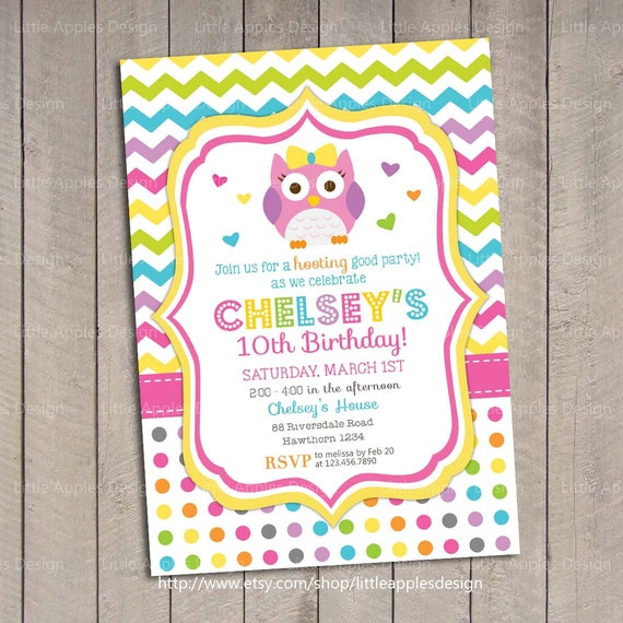 Owl Invitation / Birthday Owl Invitation / 1st Birthday Owl