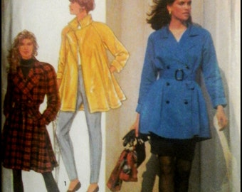 Simplicity 7627  Misses' Trench-Dress Or Top And Skirt  2 Sizes Available  UNCUT
