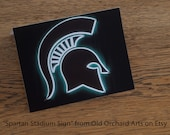 Michigan State University Spartan Note Cards - Set of 4 - FREE SHIPPING contiguous 48 states