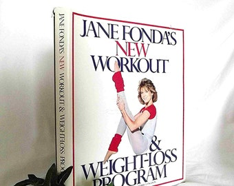 Vintage Book Vintage Jane Fonda Workout Weight Loss Jane Fonda Diet Physiology Book Nutrition Book Weight Loss Program Exercise Book