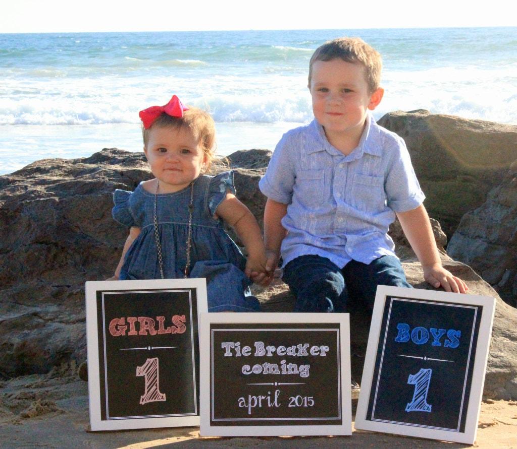 3 Tie Breaker Chalkboard Announcement Printable files – Announcing Baby
