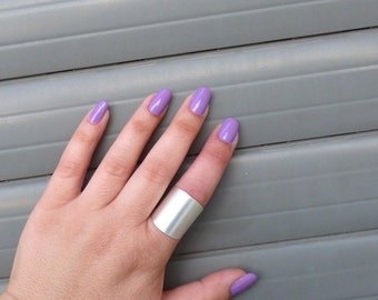 Silver ring, Silver Tube Ring ,Wide band ring, Adjustable ring, Tube ring, Simple big ring, Statement ring, Silver jewelry.