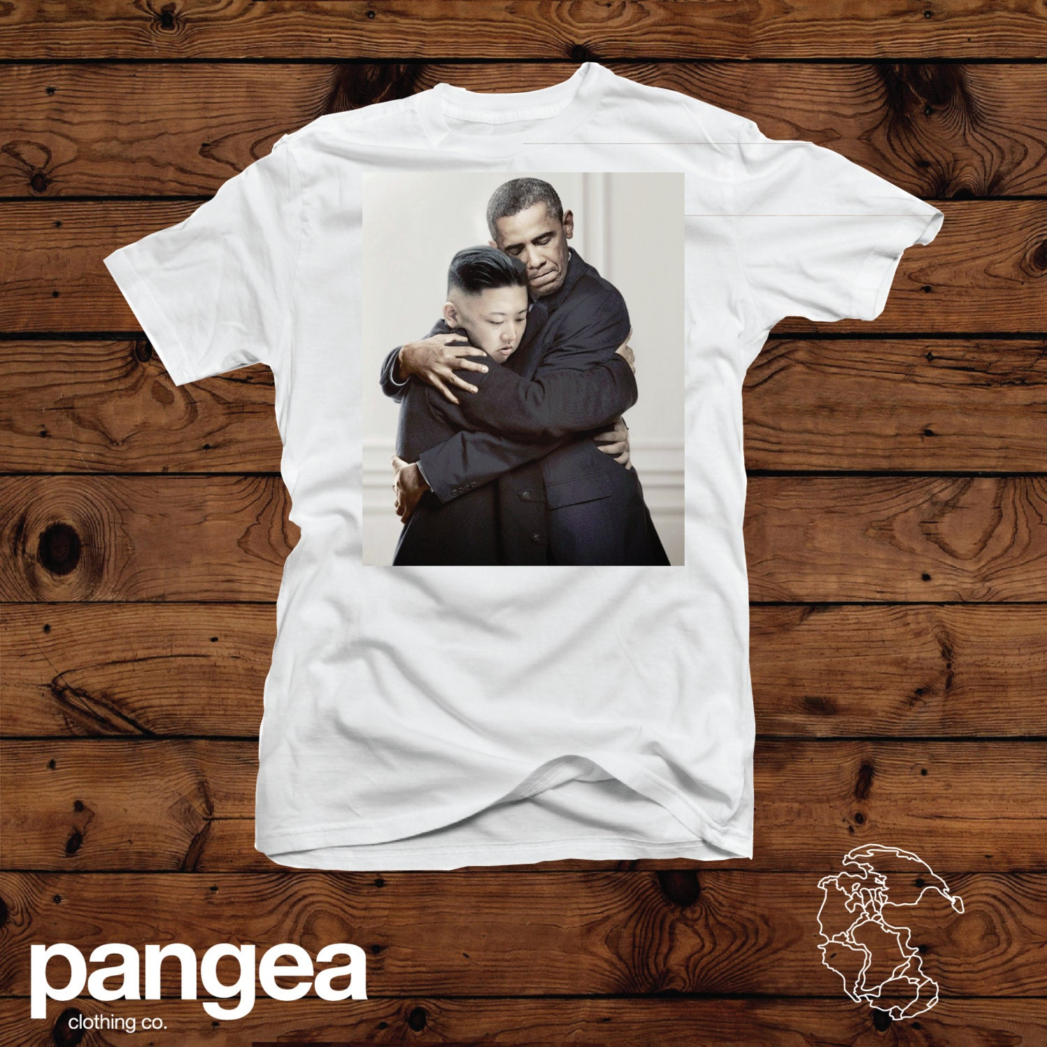 obama and kim jong un hugging t shirt by pangeaprinting on etsy. Black Bedroom Furniture Sets. Home Design Ideas