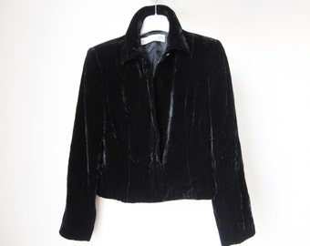Black velvet jacket | Etsy