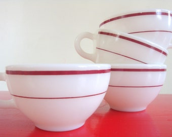 Pyrex (Corning) Ruby Band Restaurant Cup