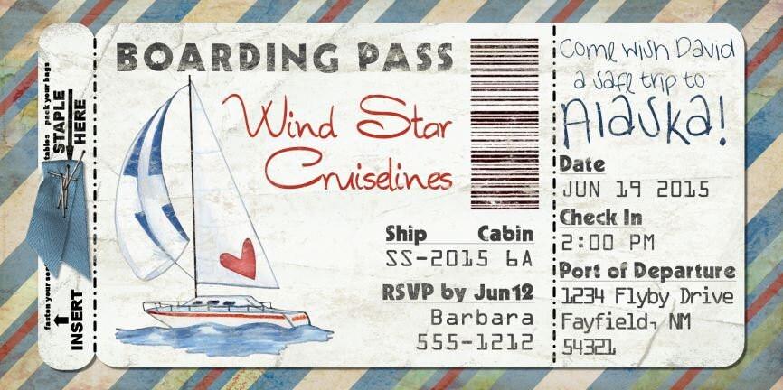 segelboot bordkarte einladung f r hochzeit geburtstag