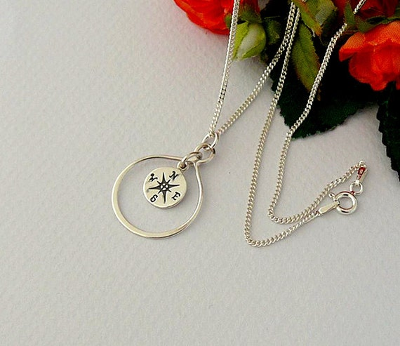 compass necklace infinity compass necklace friendship
