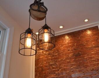 Home Lighting   Lighting   Barn Pulley  Industrial Light   Swag Light    Kitchen Light